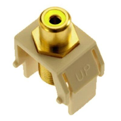 Legrand - On-Q WP3465LA Yellow RCA to FConnector, Light Almond