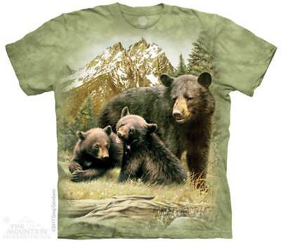 Black Bear Family T-Shirt by The Mountain. Forest Animal Sizes S-5XL NEW