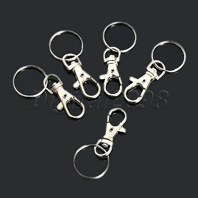 10Pcs Lobster Clasps Snap Hooks Swivel Trigger Clips Key Ring Findings 38x17mm