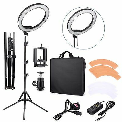 18'' 5500K Dimmable LED Adjustable Ring Light Lamp Ket + Free Bag & Stand US TO