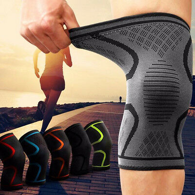 Nylon Silicon Fitness Heavy Duty Elastic Gym Knee Wraps Kneepad Knee Sleeve Pads