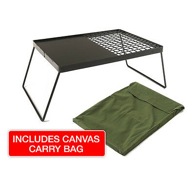 Camp Fire BBQ Plate with Canvas Bag