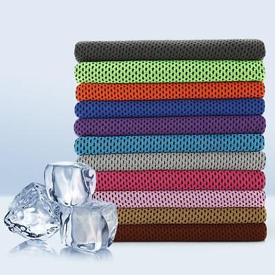 Outdoor Instant Ice Cooling Towel For Jogging Golf Fitness Cycling Sport DQUS