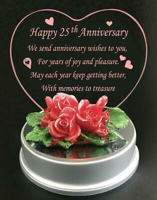 LED LIGHTS 25th Silver Wedding Anniversary Gift For Mr and Mrs Couple Gifts