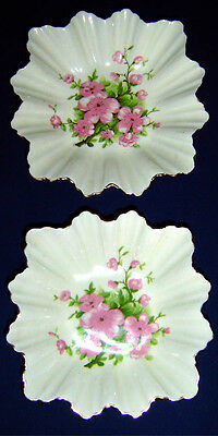 Sutherland Staffordshire Bone China Bon Bon Or Sweetie Fluted Dish Pair