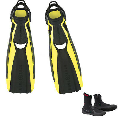 Lo3 Aqualung Fins Phazer + Strap Yellow Size X-Large  + Ergo Boots Zip