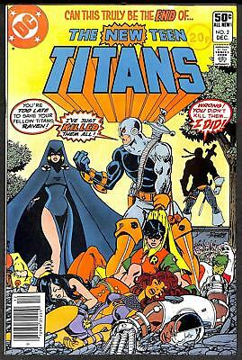 The New Teen Titans #2 (Vol 1) 1st App Deathstroke the Terminator VFN-