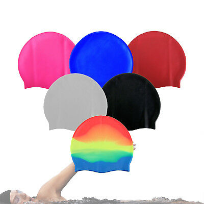 Unisex Adult & Kids Swimming Hat - Waterproof Silicone Shower Swimming Pool Cap