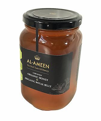AL-AMEEN CERTIFIED ORGANIC RAW HONEY WITH organic ROYAL JELLY 500g