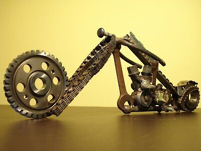 MOTORCYCLE SCRAP METAL Art Harley Davidson - $99.99 | PicClick