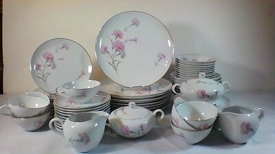 Vintage Fine China Royal Court Pink Carnation Dinnerware