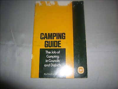 Vintage BSA Boy Scouts of America CAMPING GUIDE BOOK Copyright 1972