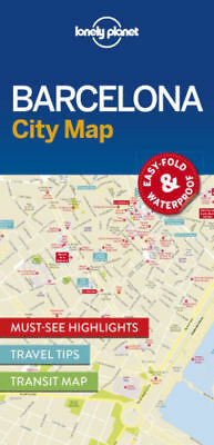 Barcelona Lonely Planet Map - New - City Map - Transit Map