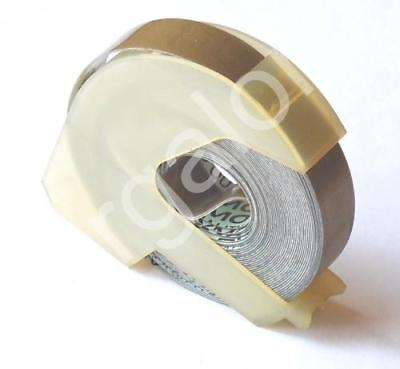 """DYMO embossing Tape 5201-13 Glossy Gold 3/8"""" x 12 Ft NEW Label Labeling"""