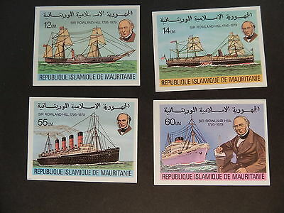 Mauritania 1979 Death Cent Rowland Hill SG614/7 Imperf UM MNH unmounted mint