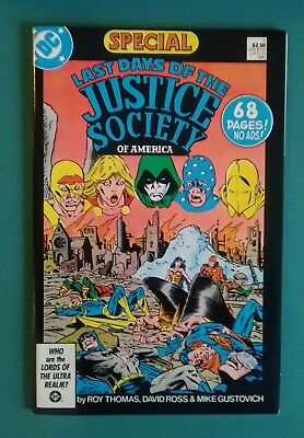 The Last Days Of The Justice Society Of America!  Nice Copy!  (Vf)