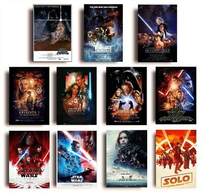 VINTAGE CLASSIC Star Wars Movie Posters A4 A3 Film Cinema Wall Decor Fan Art