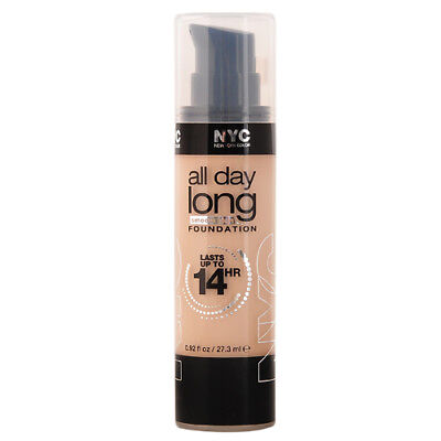 NYC All Day Long Smooth Skin Foundation 14 Hour 27.3ml New 737 Classic Ivory