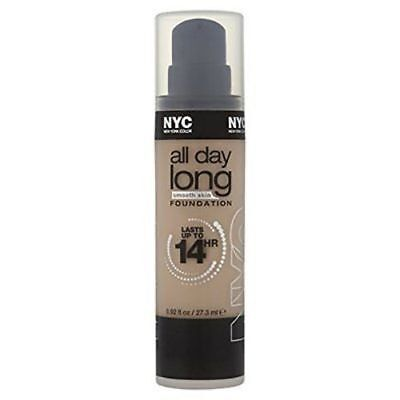 NYC All Day Long Smooth Skin Foundation 14 Hour 27.3ml New 740 Warm Beige
