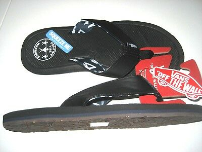 f9c03f54e6 Vans Mens Nexpa PVW Positive Vibe Warriors Flip Flop Sandals Black Blue NWT