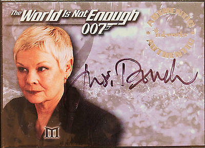James Bond The World Is Not Enough Judy Dench As 'm'  Autograph Card