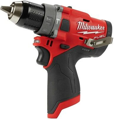 Brushless Cordless 1/2 in. Hammer Drill (Tool-Only) Milwaukee M12 FUEL 12-Volt