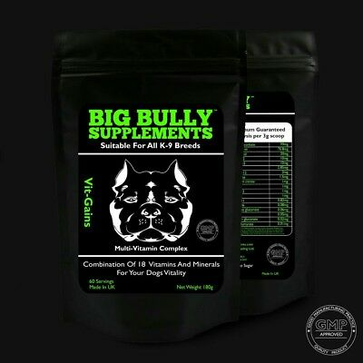 Big Bully Supplements Vit-Gains  (60 Servings) Dog Muscle Builder