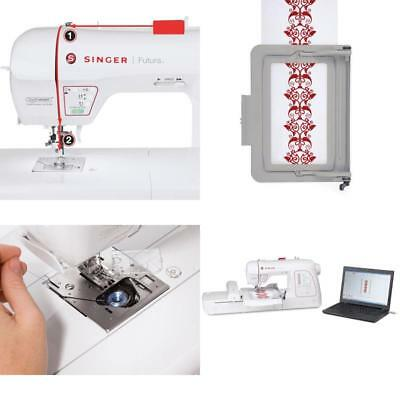 SINGER Futura Quintet Sewing Embroidery Machine 4040 PicClick Fascinating Singer Futura Ses1000 Embroidery Sewing Machine