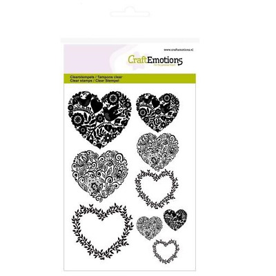 CraftEmotions clearstamps A6 - Herzen 011273