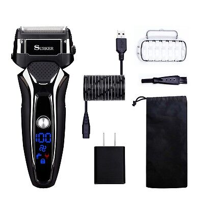 Electric Shaver for Men Wet Dry Rechargeable Cordless Series With Trimmer And
