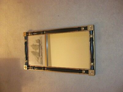 Antique Vintage Currier and Ives Grapeshot Nautical Print Mirror Very Nice!