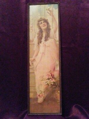 Mary Pickford advertisement signed by Mary Pickford 1917, and in original frame.