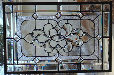 """Stained Glass window hanging 29 1/2 X 20"""""""