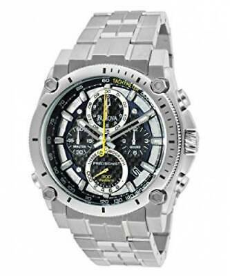 Bulova 96B175 Men's Precisionist Chrono Black Dial Stainless Steel Quartz Watch
