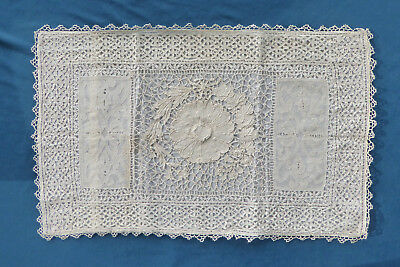 """Antique (late 1800s) Christening pillow cover, 26x17"""" ** no condition issues"""