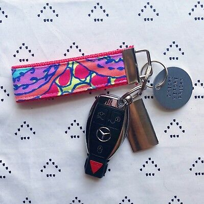 "1.25/"" width, 9/"" length Lilly Pulitzer Everything Nice Key Fob Wristlet"