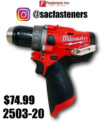 """Milwaukee M12 12V 1/2"""" Drill Driver GEN2 2503-20 New REPLACES 2403-20"""