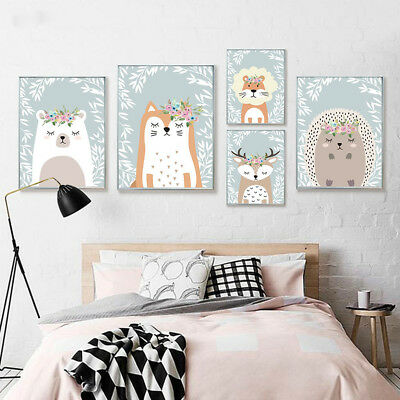 Home Decor Canvas Print Painting Wall Art Cartoon Animals Tiger Beer Poster