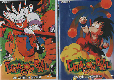 DRAGON BALL DVD Vol 1 y Vol 2 En Español Latino SPANISH 153 Capitulos NEW