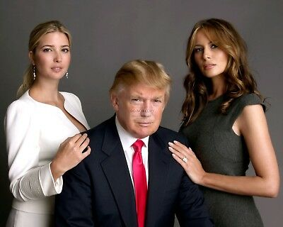 Donald Trump With First Lady Melania And Daughter Ivanka - 8X10 Photo (Ab-323)