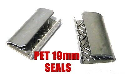 19mm Serrated Seals for PET 19mm x 1.0mm Strapping x1000 pieces