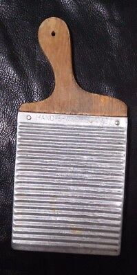 Vintage Washboard Aluminum and Wood 1930s