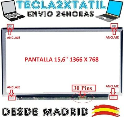 "Pantalla De Y Para Portatil Nt156Whm-N22 15,6"" Hd Lcd Led 30 Pin Edp 1366X768"