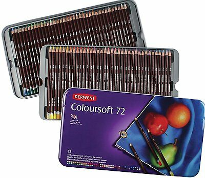 Derwent Coloursoft Colouring Pencils Tin Set of 72