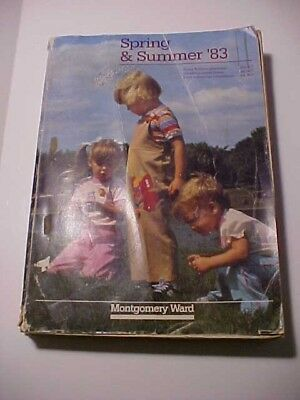 Vintage  SPRING AND SUMMER 1983 Catalog / Book Montgomery Ward