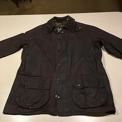 Barbour A190 Size 38 Beaufort Brown Wax Country Designer Jacket  REALLY COOL
