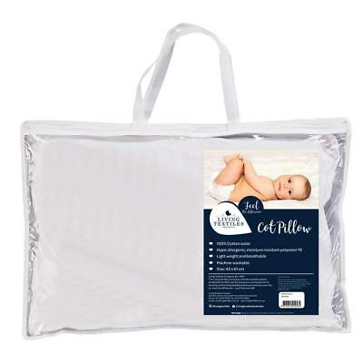 NEW Living Textiles Large Cot Pillow 42 x 61cm from Baby Barn Discounts