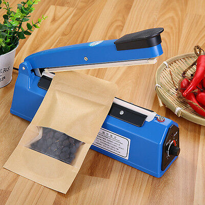 "12"" Impulse Heat Sealer 300mm Electric Plastic Poly Bag Hand Sealing Machine EU"