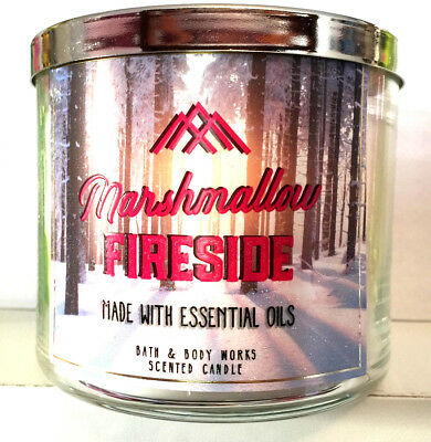 Bath and Body Works MARSHMALLOW FIRESIDE 3 Wick Candle 14.5oz