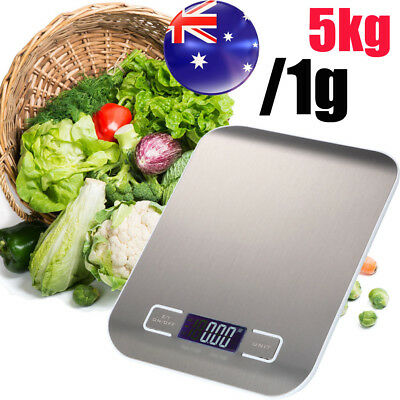 AU 5kg/1g Kitchen Food Scale Digital LCD Electronic Balance Weight Postal Scale